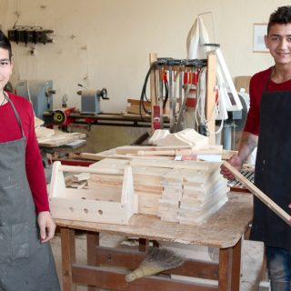 young carpenters at work
